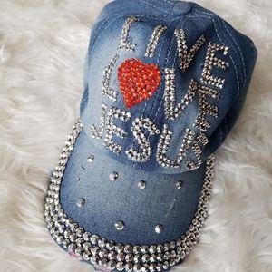 Live Love Jesus rhinestone hat
